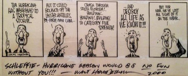 A comic strip depicting envornmental reporter Mark Schleifstein.