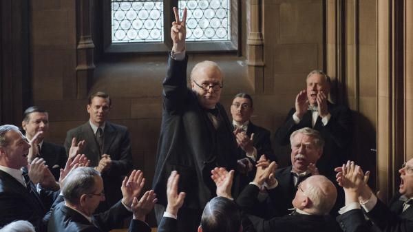 Gary Oldman stars as Winston Churchill in the Oscar-nominated film <em>Darkest Hour</em>.
