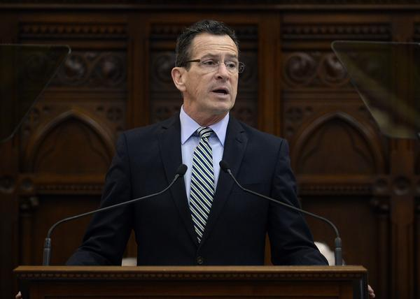 Connecticut Gov. Dannel P. Malloy delivers the State of the State address during opening session at the state Capitol in Hartford in 2017.
