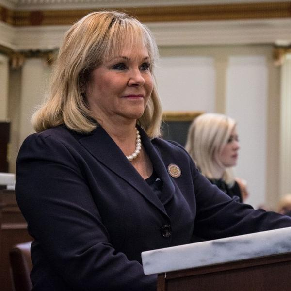 Oklahoma Gov. Mary Fallin during her State of the State address.