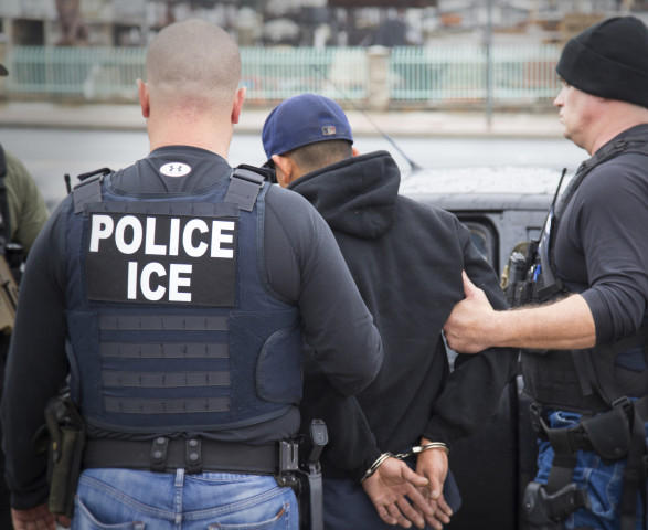 <p>In this Tuesday, Feb. 7, 2017, photo released by U.S. Immigration and Customs Enforcement shows foreign nationals being arrested this week during a targeted enforcement operation conducted by U.S. Immigration and Customs Enforcement (ICE) aimed at immigration fugitives, re-entrants and at-large criminal aliens in Los Angeles. Immigrant advocates on Friday, Feb. 10, 2017, decried a series of arrests that federal deportation agents said aimed to round up criminals in Southern California but they believe mark a shift in enforcement under the Trump administration.</p>