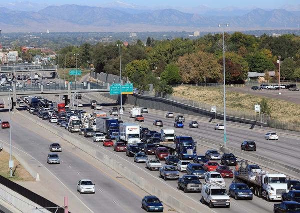 Traffic on Interstate 25 on Oct. 2, 2012 in Denver. (Doug Pensinger/Getty Images)