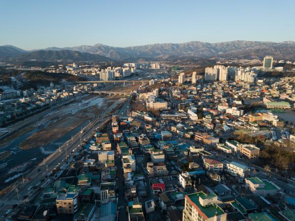 The northeastern city of Gangneung is hosting the indoor ice events of the 2018 Pyeongchang Winter Olympics.