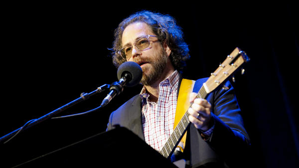 Jonathan Coulton performs on NPR's Ask Me Another at The Warner Theatre in Washington, D.C.