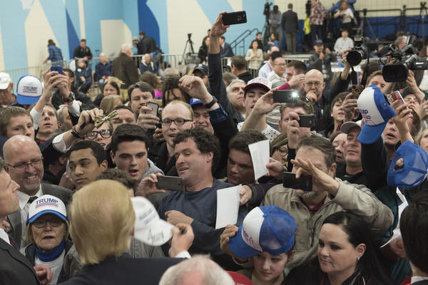 Council Bluffs, Iowa, Jan. 31, 2016: Donald Trump at a middle school rally of about 1,500 in western Iowa. Trump won 62 percent of the rural vote in the 2016 presidential election.