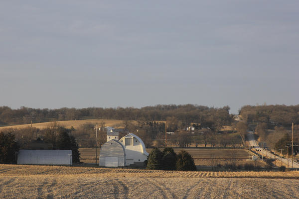 A farm in rural Iowa. The high school graduates who head off to college in the lowest proportions in America are the ones from rural places.