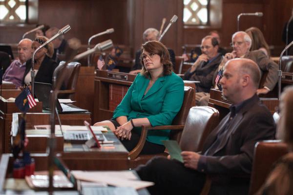 <p>Oregon Sen. Sara Gelser, D-Corvallis, is pictured at the Oregon Capitol in this undated file photo.</p>