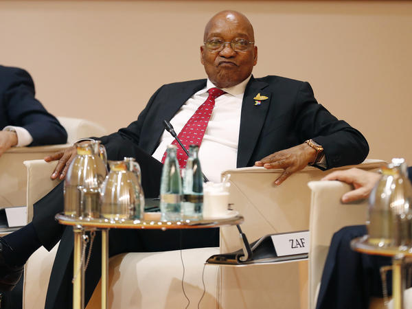 South African President Jacob Zuma at the G20 leaders retreat in July in Hamburg, Germany.