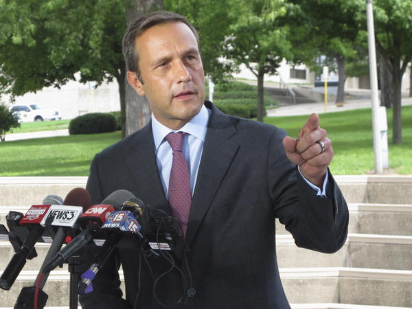 Paul Nehlen, pictured in 2016, has been banned permanently from Twitter for a racist tweet targeting Meghan Markle.