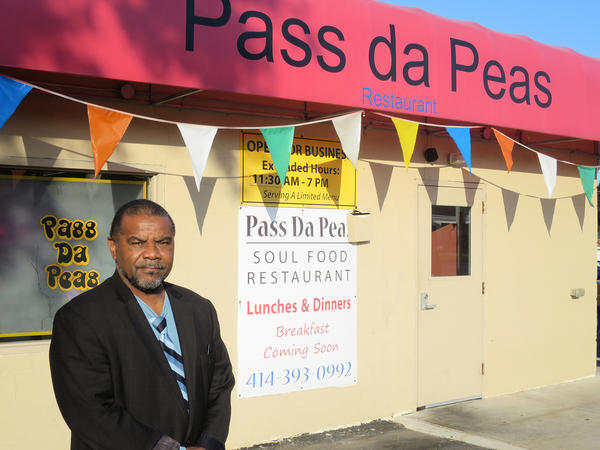 Thromentta Anderson, the owner of Pass Da Peas in northwest Milwaukee likes to greet customers by name and give them tokens toward free drinks. But he was glad to see new faces during Black Restaurant Week.