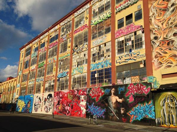 5Pointz graffiti stands before it was whitewashed in 2013. A New York judge has awarded $6.7 million to 21 graffiti artists whose works were destroyed in the process.