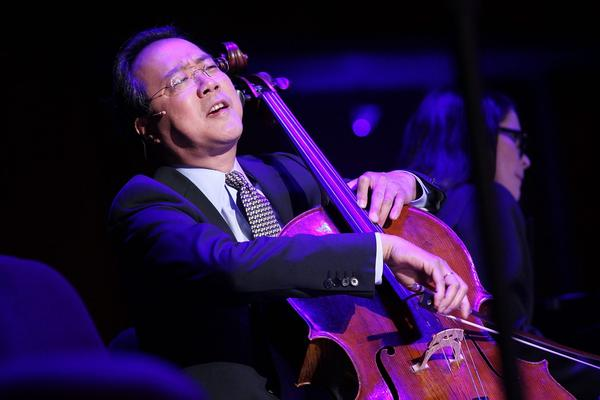 Yo-Yo Ma performs at The Nancy Hanks Lecture on Art and Public Policy sponsored by Ovation at John F. Kennedy Center for the Performing Arts on April 8, 2013 in Washington. (Paul Morigi/Getty Images for Ovation)