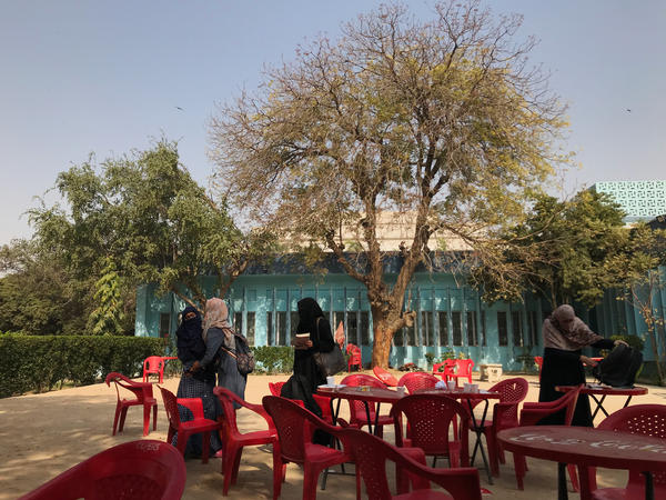 Karachi University, where a ban on Valentine's Day is policed by a conservative Muslim youth group. Many of the campus' largely conservative, working-class students say they support the ban.