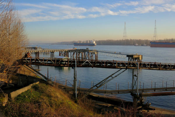 """<p>The dock at the Port of Vancouver wherethe proposed Vancouver Energy terminal project would move oil onto ships and tankers bound for west coast refineries.</p> <p><span style=""""font-family: Helvetica, Arial, 'Liberation Sans', FreeSans, sans-serif; font-size: 13px;""""></span></p>"""