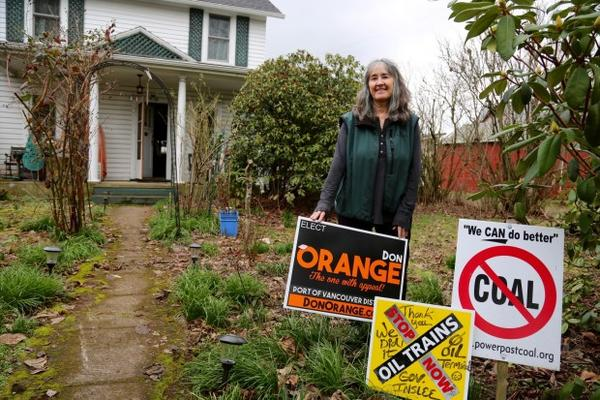 <p>Cathryn Chudy was a volunteer for Don Orange's campaign who knocked on every door in her neighborhood's voting precinct.</p>