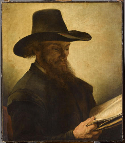 <em>Reading Man</em>, by the 17th-century Dutch painter Barent Fabritius, is one of the works featured in the two rooms of works lost to their Jewish owners.