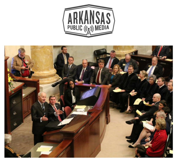 Gov. Asa Hutchinson gives his State of the State address to the Arkansas General Assembly.