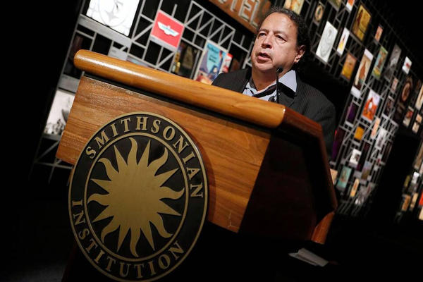 """Paul Chaat Smith, a co-curator of """"The Americans"""" at the Smithsonian National Museum of the American Indian."""