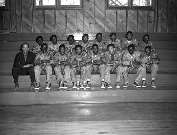 The 1956 Lincoln High basketball team.