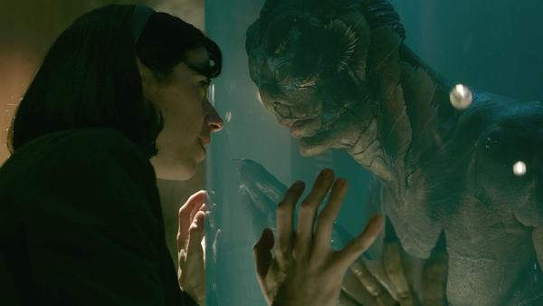 Doug Jones plays an amphibious fish man who strikes up a romance with a mute woman (played by Sally Hawkins) in <em>The Shape of Water.</em>