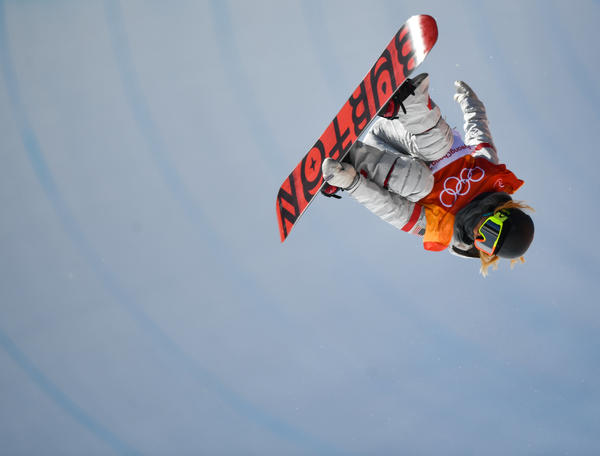 U.S. snowboarder Chloe Kim, 17, soars to a gold medal in the halfpipe.