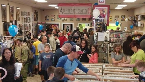 A recent busy night at Arkham Comix in Rocky Mount, NC.