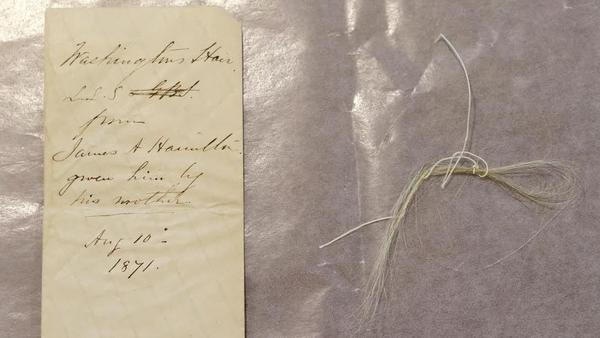 Union College says it recently stumbled across a surprising find in its archive: a lock of George Washington's hair.