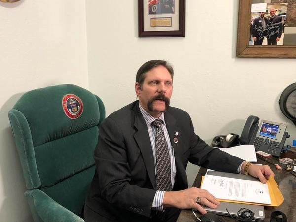Sen. Randy Baumgardner of Hot Sulphur Springs tells reporters he will step down from one of his committee chairmanships. He will not resign from office as some have called for. He denies wrongdoing.