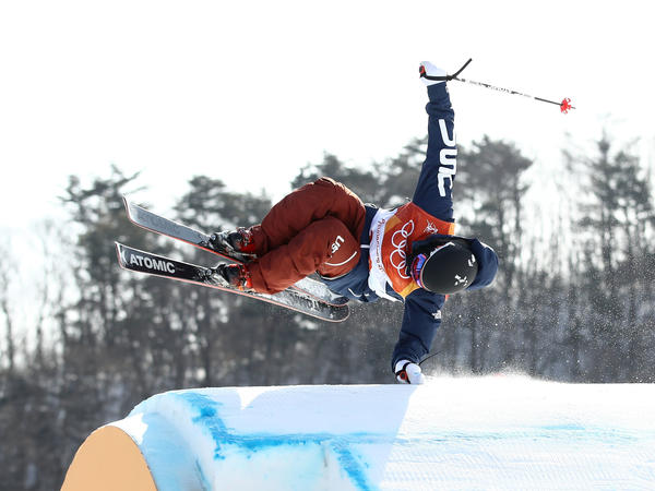 Gus Kenworthy of the United States competes during the freestyle skiing men's ski slopestyle. He placed 12th.