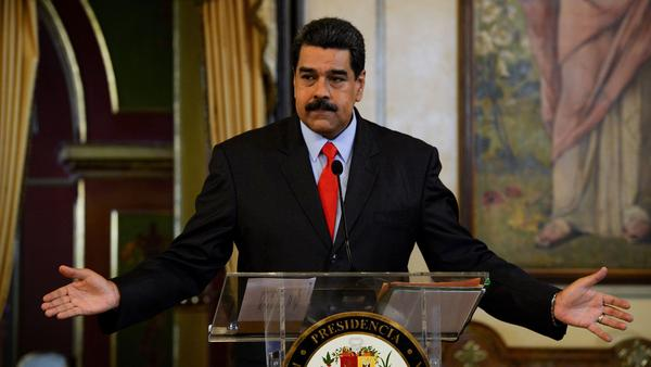 Venezuelan President Nicolas Maduro addresses a news conference at the Miraflores Presidential Palace in Caracas last week.