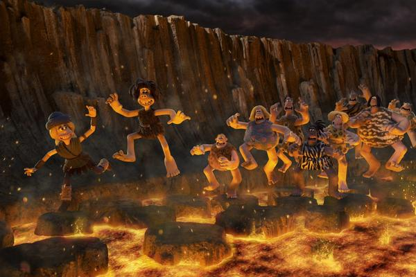 """Goona, Dug and friends in """"Early Man."""" (Courtesy of Aardman)"""
