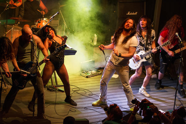 Andrew W.K. performs at The Skype Live Nation Party at South by Southwest.