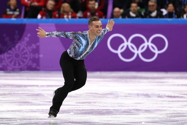 U.S. figure skater Adam Rippon made his Olympic debut on Feb. 12 as part of the team competition. He won a bronze medal in that event, while becoming a fan and media favorite.