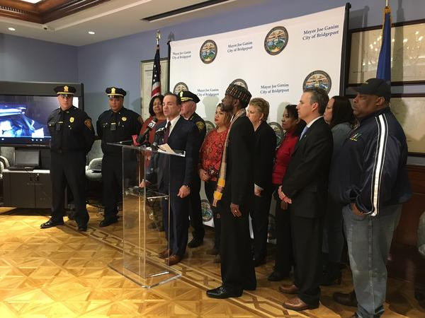 Bridgeport Mayor Joseph Ganim announces that the City will be piloting a body camera program within the police force.