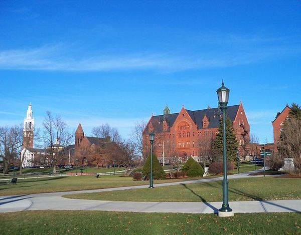 The University of Vermont, Burlington Campus.