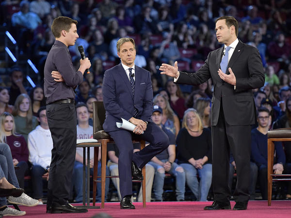 Marjory Stoneman Douglas student Cameron Kasky asked Sen. Marco Rubio, R-Fla., if he will continue to accept money from the NRA during a CNN town hall meeting on Wednesday.