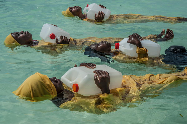 Girls in Zanzibar, a Tanzanian archipelago, are often discouraged from learning how to swim, partly because of the fear that wearing an immodest swimsuit will compromise cultural or religious beliefs. The Panje Project teaches women and girls to swim in full-length bathing suits.