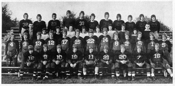 A photo of the 1940 Mason football team shows Malcolm Little, 4th from left in the back row. Malcolm spent part of his childhood in Lansing and part in Mason, Michigan.