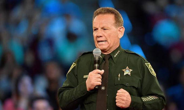 Broward County Sheriff Scott Israel speaks before the start of a CNN town hall meeting, Wednesday, Feb. 21, 2018, at the BB&T Center, in Sunrise, Florida.