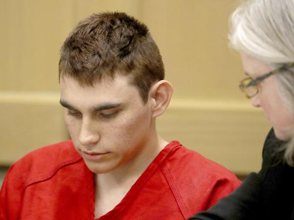 Nikolas Cruz appears in court for a status hearing in Fort Lauderdale, Florida.