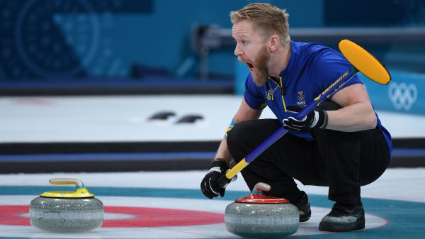 Sweden's Niklas Edin led his curling team against the U.S. in Saturday's final at the Pyeongchang Winter Games. Neither team had ever won a gold medal.