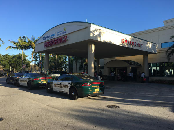 The Emergency Room at Broward Health Medical North is on lockdown as victims from the shooting at Marjory Stoneman Douglas High School arrive.