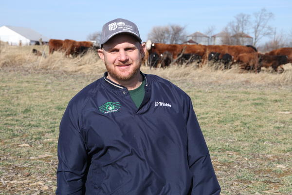 Ryan Britt of Clifton, Missouri, used federal money from the Environmental Quality Incentives Program in the farm bill to pay for his rotational grazing system. The system allows the pasture to rest and restore its health and native plant life.