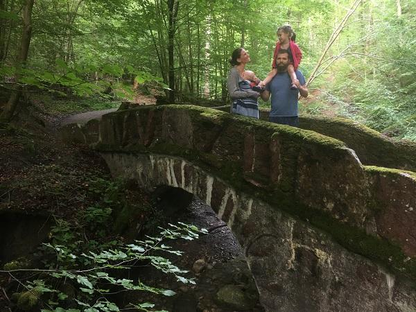 Pharr Davis explores with her family on the trail.