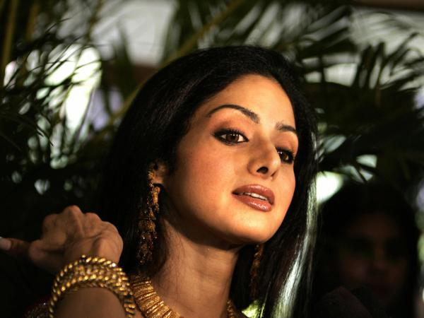 Indian Bollywood actor Sridevi gestures during a news conference at the Karanataka Gold Festval in Bangalore, in 2006.