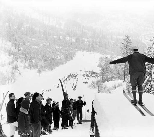Leavenworth ski jump in January 1930