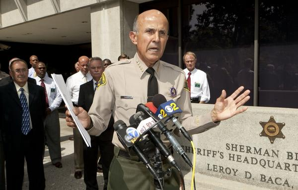 Los Angeles County Sheriff Lee Baca says he's already cleared as many as 4,000 beds in the county for the new group of prisoners, and he plans to use more home detention and electronic-monitoring systems.