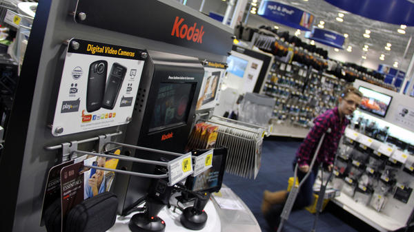 Kodak has seen digital camera sales dwindle in recent years. This Henrietta, N.Y., Best Buy keeps only a few of them on shelves, leaving most to online sales. Kodak is looking to largely forgo the consumer camera market and focus instead on commercial printing products.