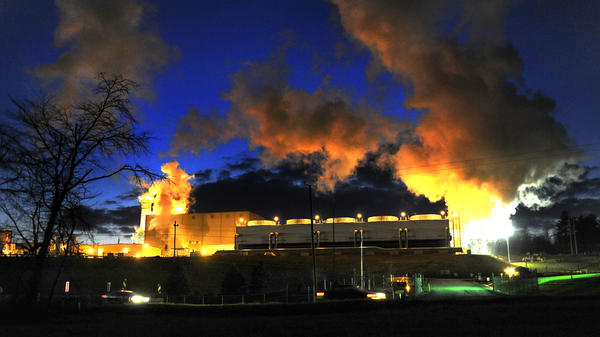 American Electric Power's natural gas-burning plant in Dresden, Ohio, is one of the energy company's new investments in alternatives to coal-burning plants.