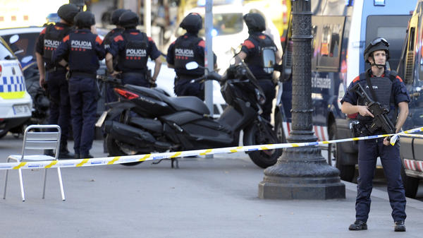 Authorities are asking people to stay away from Las Ramblas boulevard and a nearby public square in Barcelona.